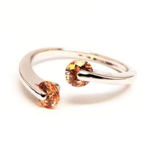Feshionn IOBI Rings 6 / Citrine ON SALE - Double Glimmer 2 Stone Ring - Choose Your Color