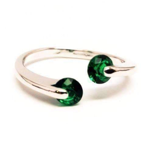 Feshionn IOBI Rings 6 / Emerald Green ON SALE - Double Glimmer 2 Stone Ring - Choose Your Color