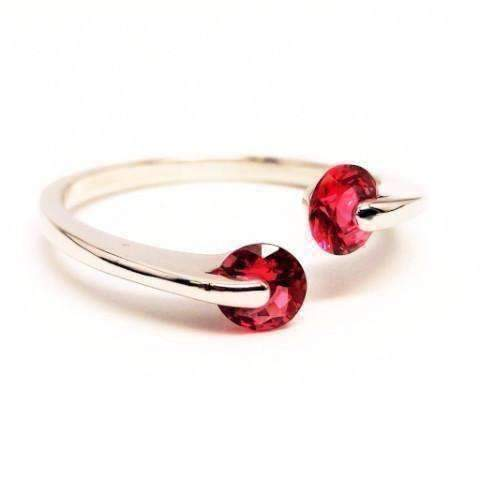 Feshionn IOBI Rings 6 / Magenta Pink ON SALE - Double Glimmer 2 Stone Ring - Choose Your Color