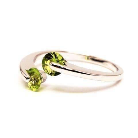 Feshionn IOBI Rings 6 / Peridot Green ON SALE - Double Glimmer 2 Stone Ring - Choose Your Color