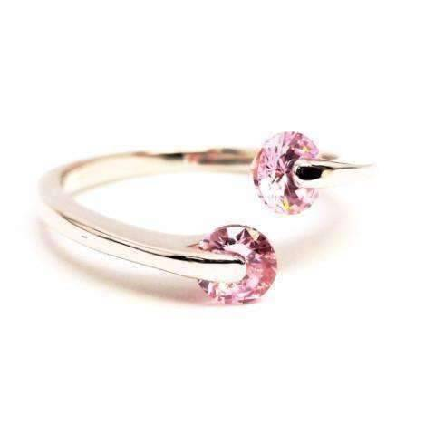 Feshionn IOBI Rings 6 / Pink Ice ON SALE - Double Glimmer 2 Stone Ring - Choose Your Color