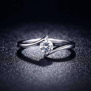 "Feshionn IOBI Rings 6 / Platinum ON SALE - ""Only You"" Floating Tension Set .5 CT Simulated Diamond Ring"