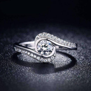 "Feshionn IOBI Rings 6 / Platinum ON SALE - ""Soul Expression"" 1.2 CT Round Simulated Diamond Ring"