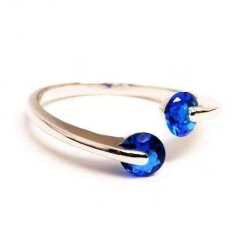 Feshionn IOBI Rings 6 / Sapphire Blue ON SALE - Double Glimmer 2 Stone Ring - Choose Your Color