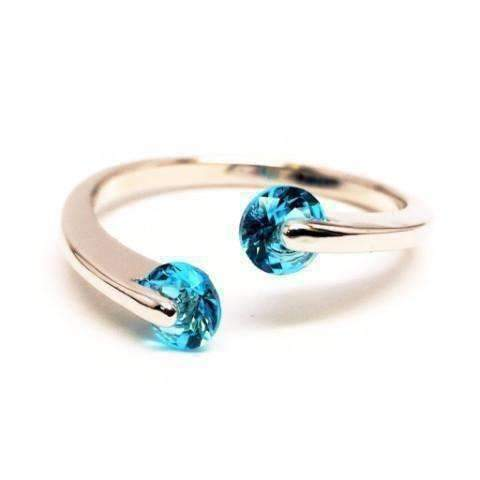 Feshionn IOBI Rings 6 / Topaz Blue ON SALE - Double Glimmer 2 Stone Ring - Choose Your Color