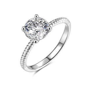 Feshionn IOBI Rings 7 / Platinum Désirée 1.25CT Round Cut Solitaire IOBI Cultured Diamond Ring