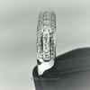 Image of Feshionn IOBI Rings Adalyne 1CTW Channel Set Princess and Pavé Band IOBI Cultured Diamond Ring