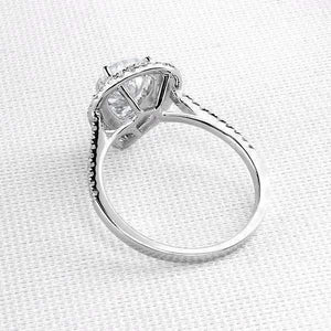 Feshionn IOBI Rings Aurora 2CT Pear Cut Double Pavé Halo IOBI Cultured Diamond Ring