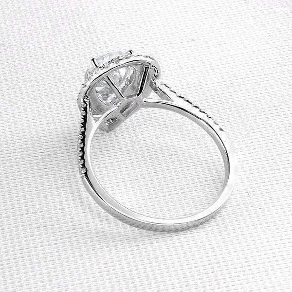Feshionn IOBI Rings 5 Aurora 2CT Pear Cut Double Pavé Halo IOBI Cultured Diamond Ring