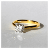 Image of Feshionn IOBI Rings Bella D'ora 1CT Round Cut IOBI Cultured Diamond Solitaire Ring