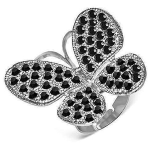 Feshionn IOBI Rings black Black Beauty Butterfly Adjustable Stainless Steel Ring