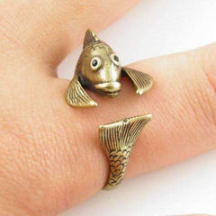 Fish Friend Adjustable Animal Wrap Ring