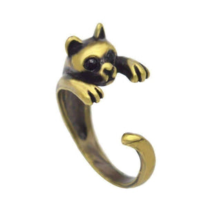 Feshionn IOBI Rings Bronze Purr-fect Kitten Adjustable Animal Wrap Ring