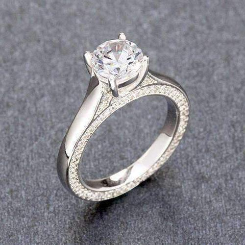 Feshionn IOBI Rings CLEARANCE - French Cathedral Set 1.25ct CZ Solitaire Engagement Ring
