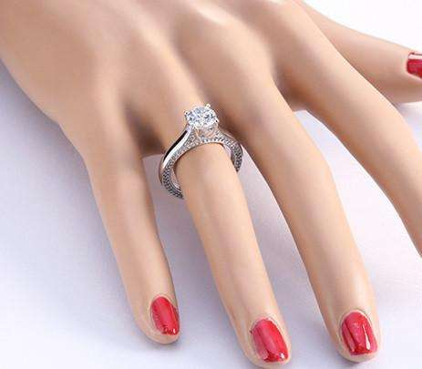 gg cut engagement ring cttw bridal stone emerald tri rings princess latest deals and groupon clearance