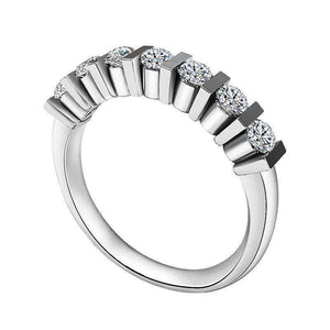 Feshionn IOBI Rings Colette 1CTW Bar Set Half Eternity Band IOBI Cultured Diamond Ring