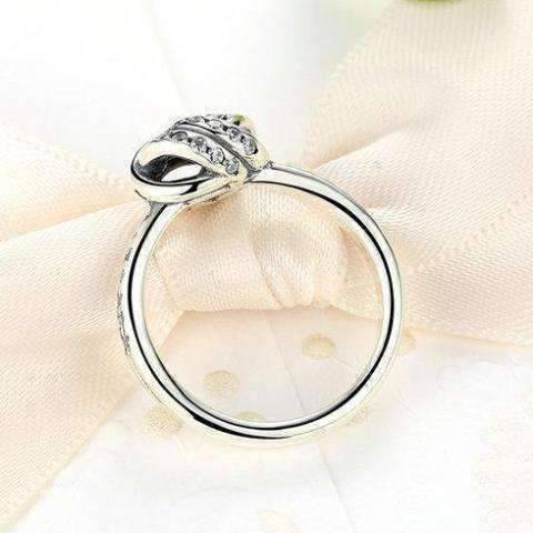 Feshionn IOBI Rings 7 CZ Accented Sterling Silver Love Knot Ring