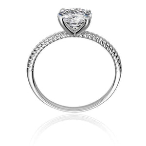 Feshionn IOBI Rings Désirée 1.25CT Round Cut Solitaire IOBI Cultured Diamond Ring