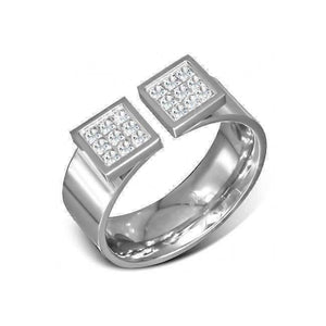 Feshionn IOBI Rings Diamond Pave Omega Ring