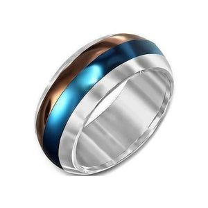 "Feshionn IOBI Rings ""Dizzy Stripes"" Spinner Ring"