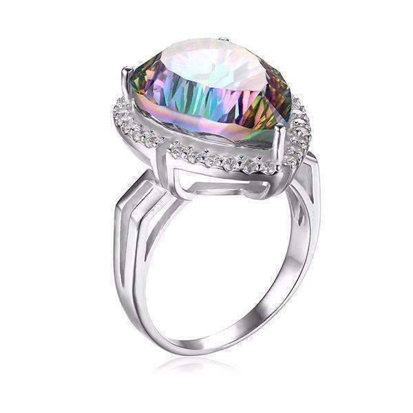 Feshionn IOBI Rings 6 Eden Genuine Rainbow Fire Mystic Topaz 13CT IOBI Precious Gems Ring
