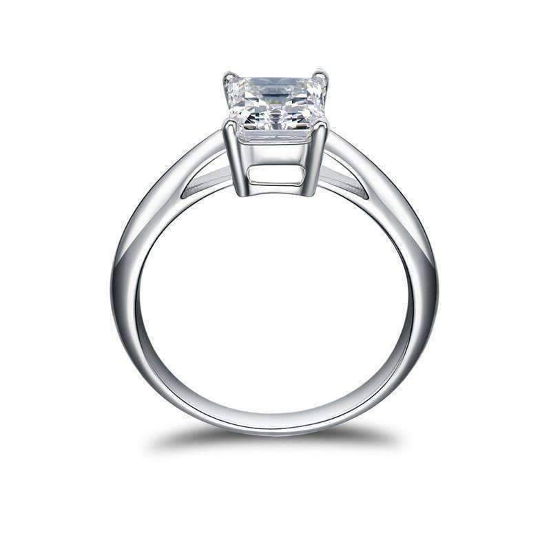 Feshionn IOBI Rings 5 / Platinum Elise 1.5CT Emerald Cut Solitaire IOBI Cultured Diamond Ring