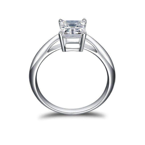 Feshionn IOBI Rings Elise 1.5CT Emerald Cut Solitaire IOBI Cultured Diamond Ring