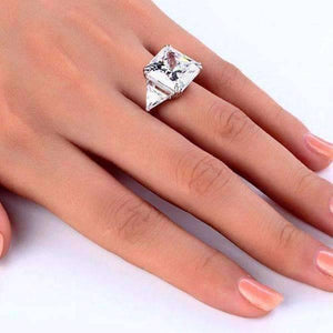 6087fb62f3e99 ON SALE - Fancy Fire 8CT Princess Cut Three Stone Cocktail Ring