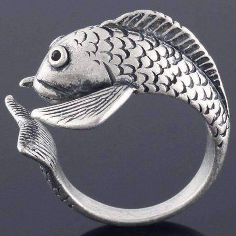 Feshionn IOBI Rings Fish Friend Adjustable Animal Wrap Ring