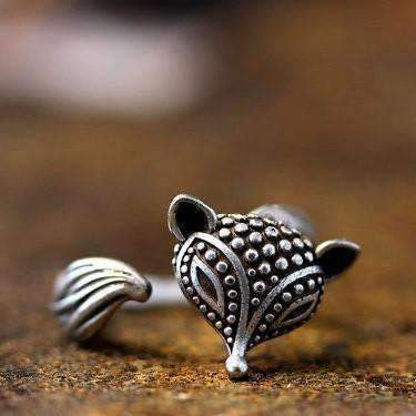 Feshionn IOBI Rings Foxy Lady Adjustable Fox Animal Wrap Ring