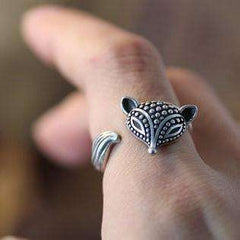 Foxy Lady Adjustable Fox Animal Wrap Ring
