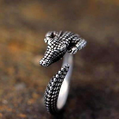 Feshionn IOBI Rings Silver Gator Growl Adjustable Ring