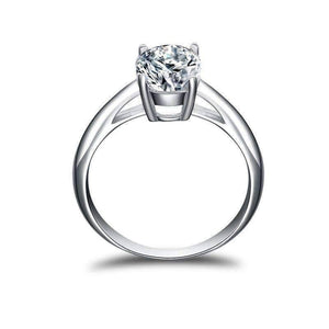 Feshionn IOBI Rings Gia 2CT Oval Solitaire IOBI Cultured Diamond Ring