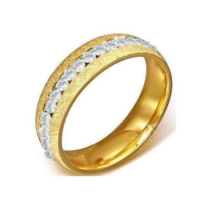 Feshionn IOBI Rings Gold Eternity Ring - Sun Blast Finish - 316 Stainless Steel Ring