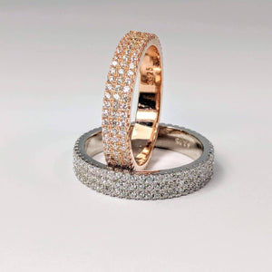 Feshionn IOBI Rings Here To Eternity Cubic Zirconia Anniversary Band Ring