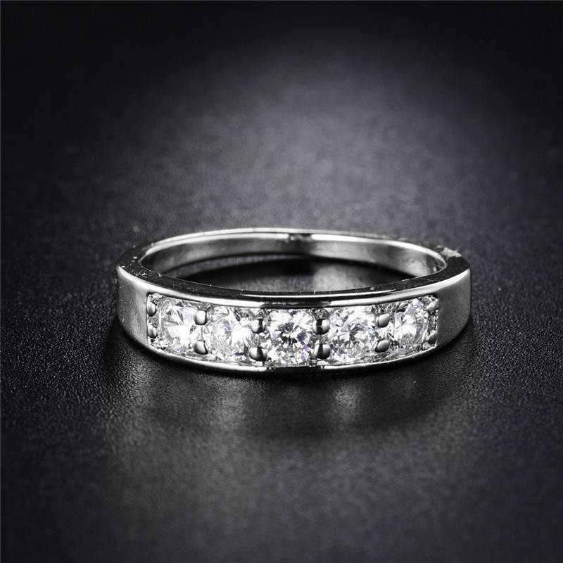 Jadore Five Stone Channel Set 125 ct CZ Anniversary Wedding Band