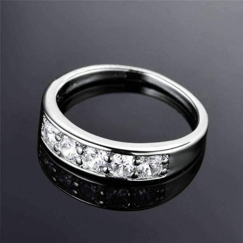 Feshionn IOBI Rings J'adore Five Stone Channel Set  1.25 ct CZ Anniversary & Wedding Band Ring