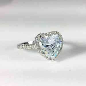 Feshionn IOBI Rings LaBelle 2.5CT Heart Cut Halo IOBI Cultured Diamond Ring