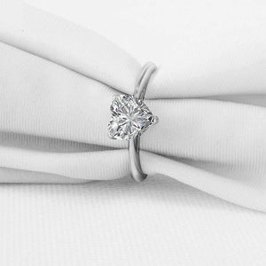 Feshionn IOBI Rings Lissette 1.5CT Heart Solitaire IOBI Cultured Diamond Ring
