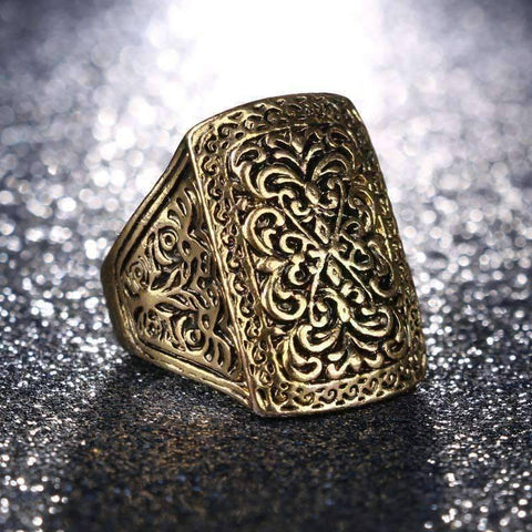 Feshionn IOBI Rings Medieval Era Patina Etched Cocktail Ring