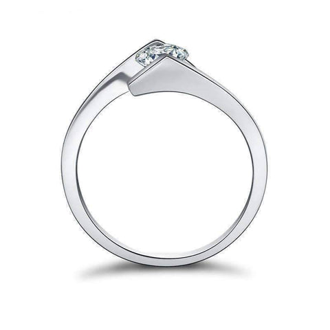 Feshionn IOBI Rings Mia .05CT Tension Set Bypass IOBI Cultured Diamond Ring