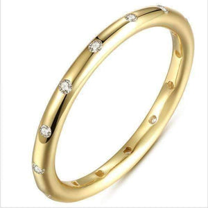 Feshionn IOBI Rings Never Ending Glow CZ Eternity Band Ring