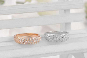 Feshionn IOBI Rings ON SALE - 18K Gold Pave Austrian Crystals Band Ring - Choose Your Color - Ring