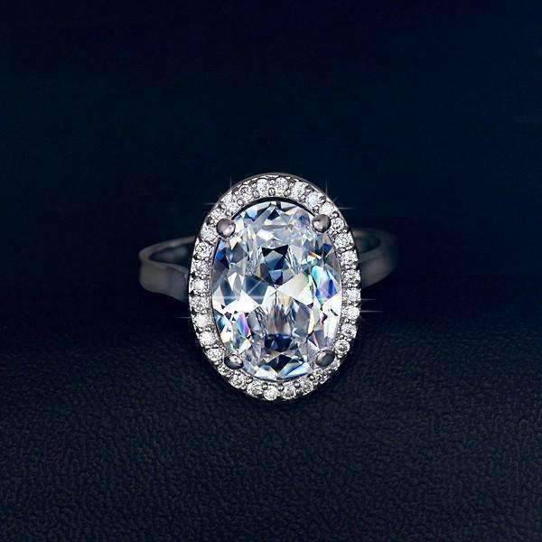 Engagement Rings On Sale Newcastle: Celebrity 6 Carat Oval Engagement Ring In White