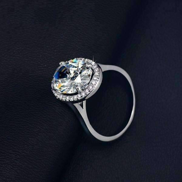 "Engagement Rings On Sale Newcastle: ""Celebrity"" 6 Carat Oval Engagement Ring In"