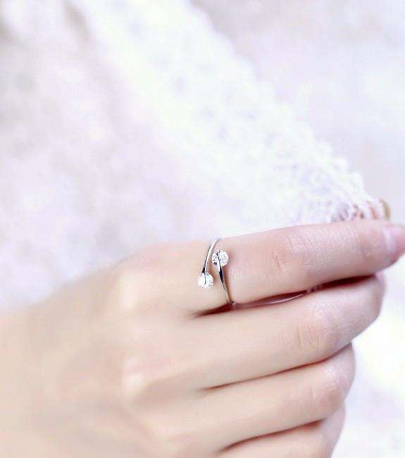Feshionn IOBI Rings 6 / Crystal Clear ON SALE - Double Glimmer 2 Stone Ring - Choose Your Color