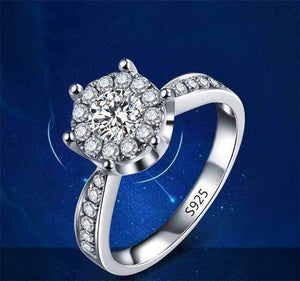 Feshionn IOBI Rings ON SALE - L'Amour 2.6 CT Cluster Set Simulated Diamond Solitaire Ring