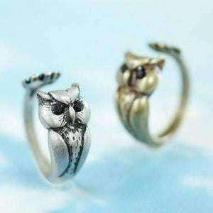 Feshionn IOBI Rings Owl Adjustable Animal Wrap Ring