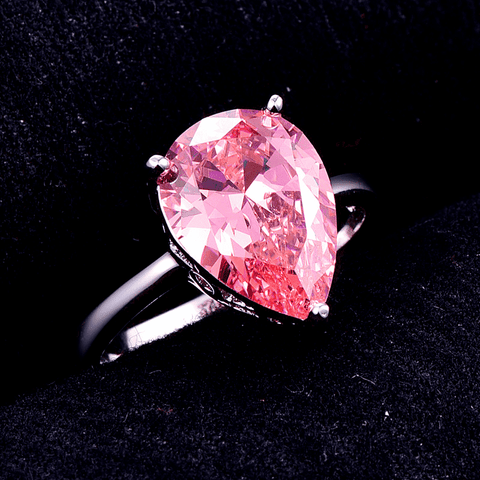 Feshionn IOBI Rings Persian Pink Pear 8.5CT Pink Topaz IOBI Precious Gems Ring