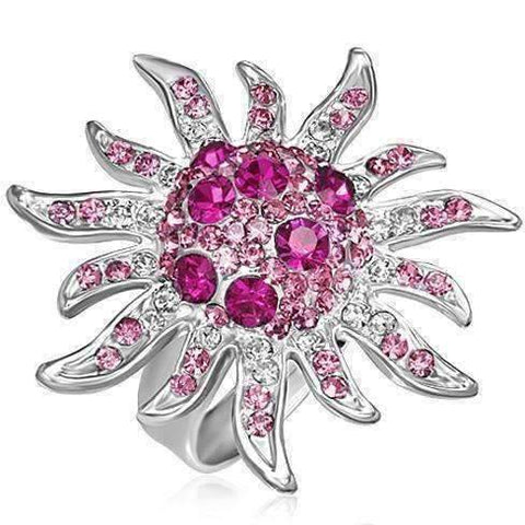 "Feshionn IOBI Rings Pink ""Pink Starburst"" Adjustable Ring"